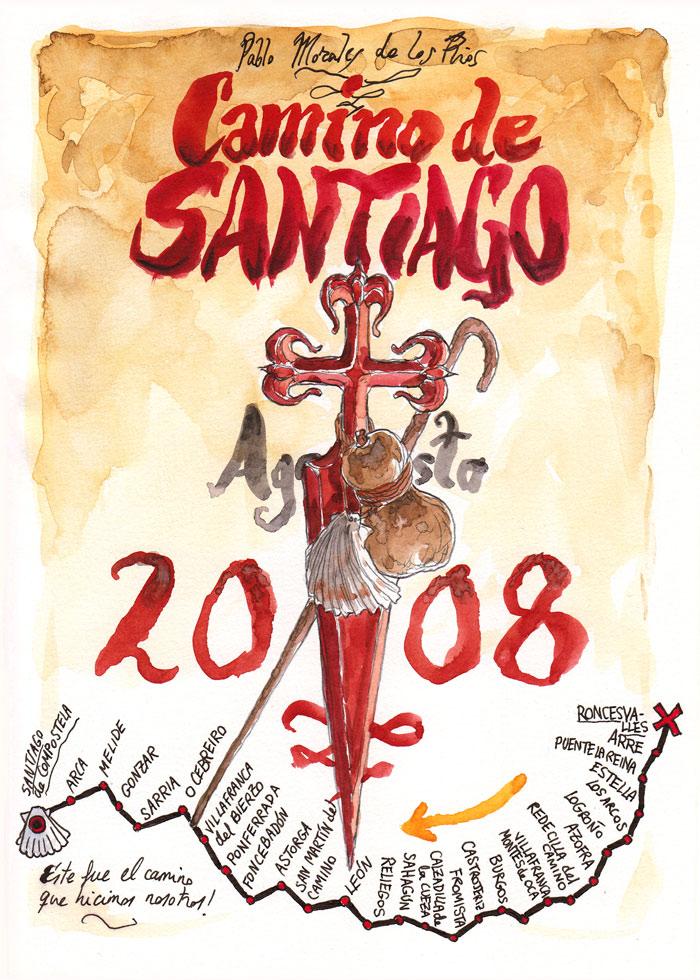 Camino de SANTIAGO 2008 - Pág 01. Portada