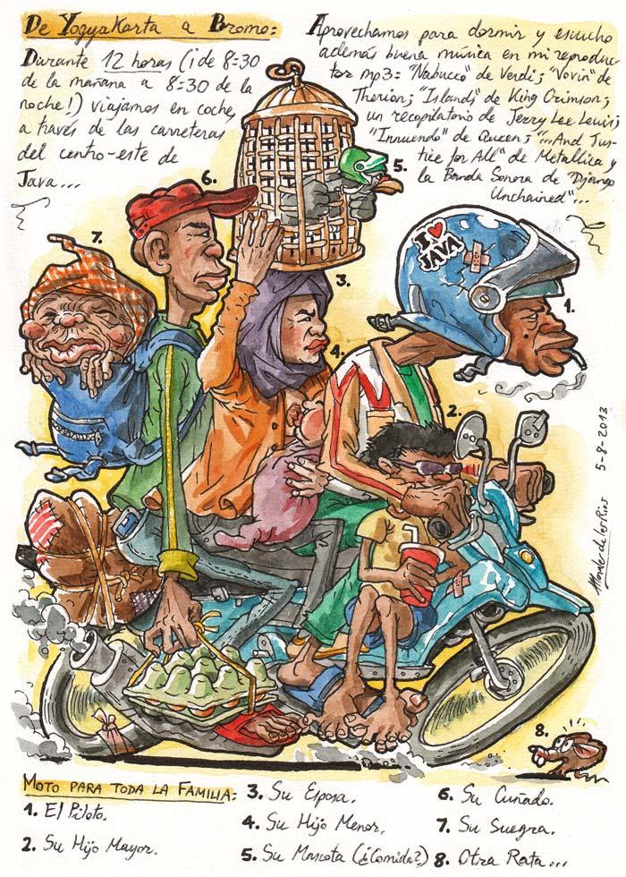 INDONESIA 2013 - Pág 029. De YOGYAKARTA a BROMO. Moto para toda la familia