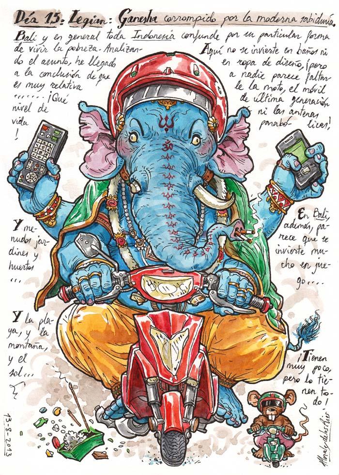 INDONESIA 2013 - Pág 052. LEGIAN. Ganesha corrompido por la moderna sabiduría