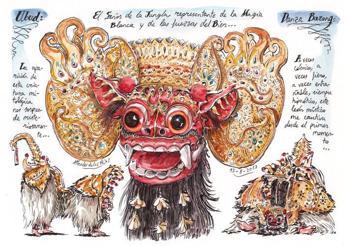 INDONESIA 2013 - Pág 061. UBUD. Danza Barong (El Señor de la Jungla)