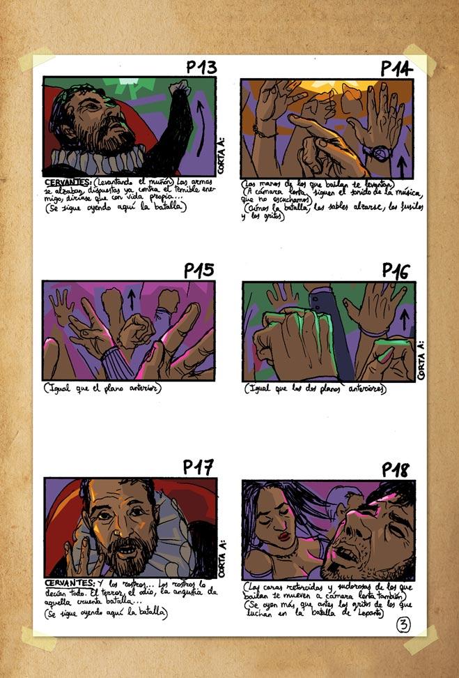 De cómo Cervantes fue a publicar su Don Quijote - Storyboard 3