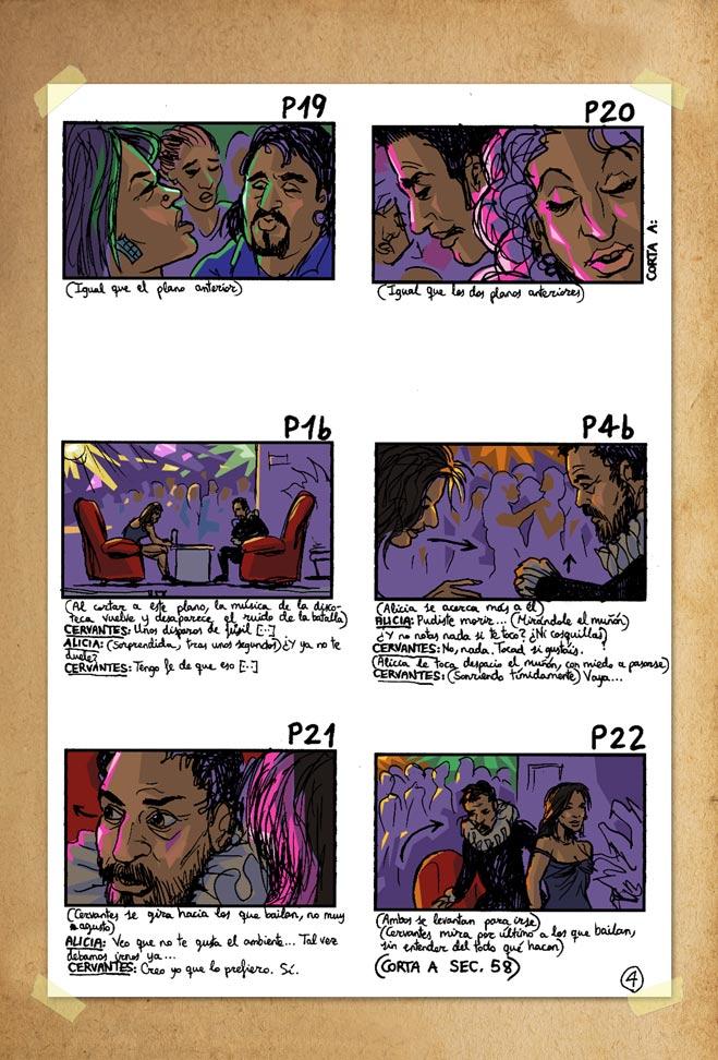 De cómo Cervantes fue a publicar su Don Quijote - Storyboard 4