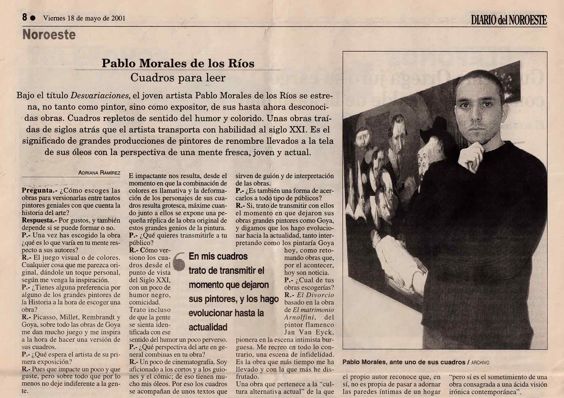 Entrevista 2001 - Diario del Noroeste
