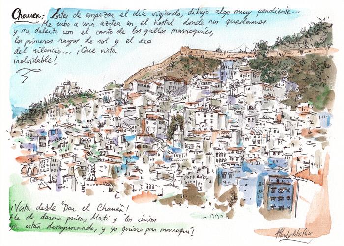 MARRUECOS 2012 - Pág 12. CHAUEN. ¡Vista desde ''Dar el Chauen''!jpg
