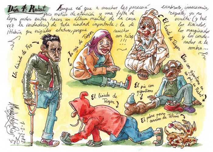 MARRUECOS 2012 - Pág 17. RABAT. Los lisiados, los marginados y los condenados a la sombra