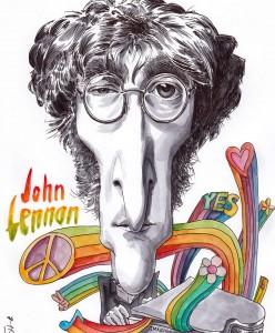 Caricatura John Lennon