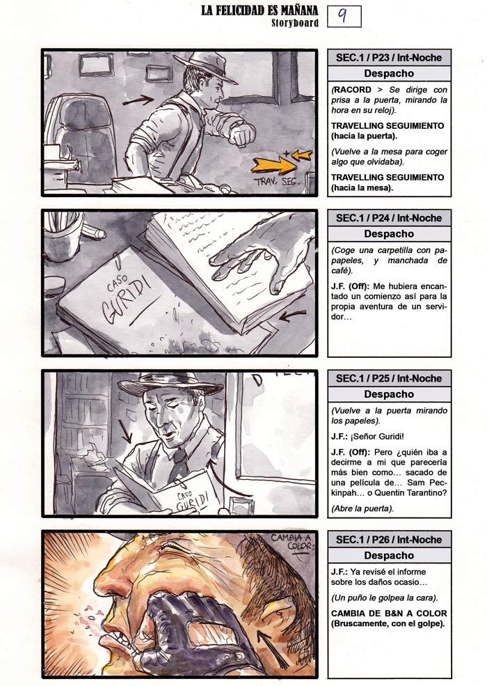La Felicidad es Mañana - Storyboard, pag. 009