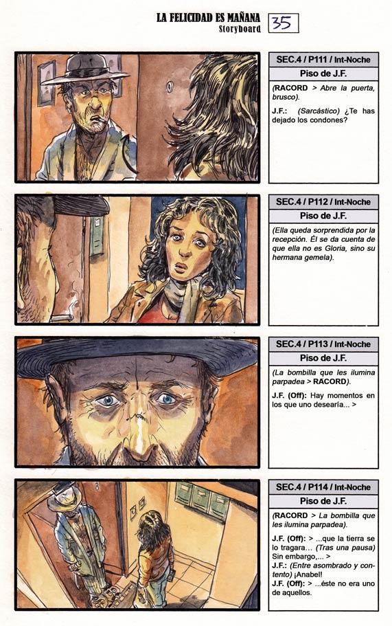 La Felicidad es Mañana - Storyboard, pag. 035