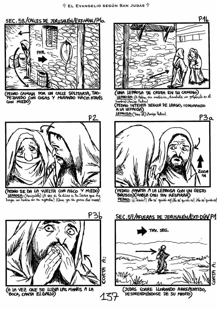 El Evangelio según San Judas - Storyboard, pag. 137