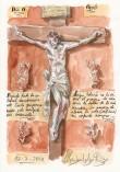 Camino PORTUGUÉS hacia Santiago 2010 - Pág 04. OPORTO. Cristo que parece haber sido esculpido por Grünewald