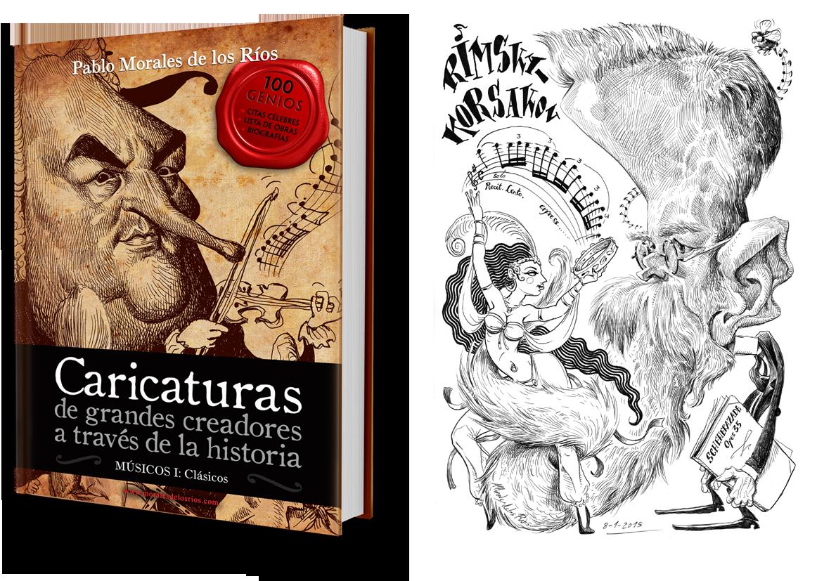 Libro Caricaturas de Músicos Clásicos + Rimsky-Korsakov