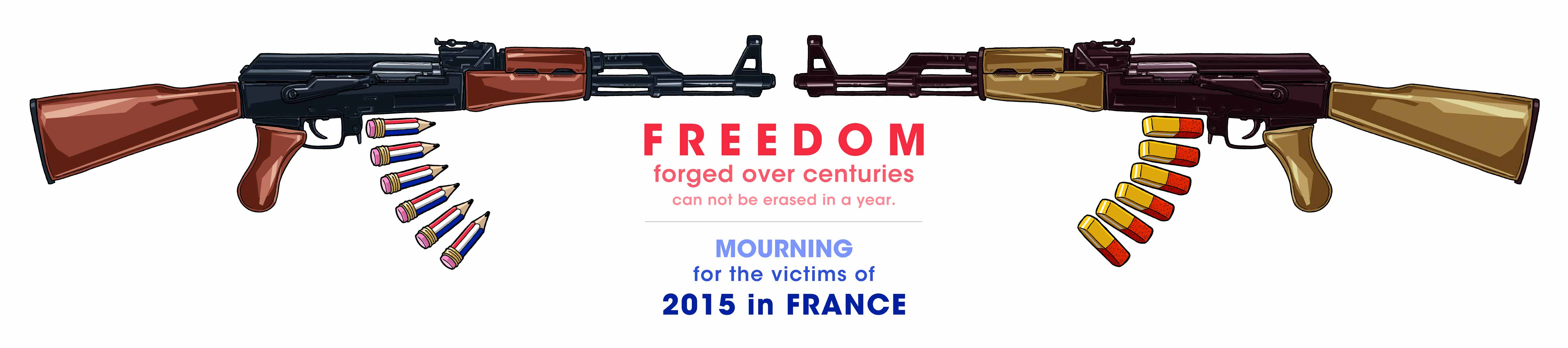 MOURNING for the victims of 2015 in FRANCE