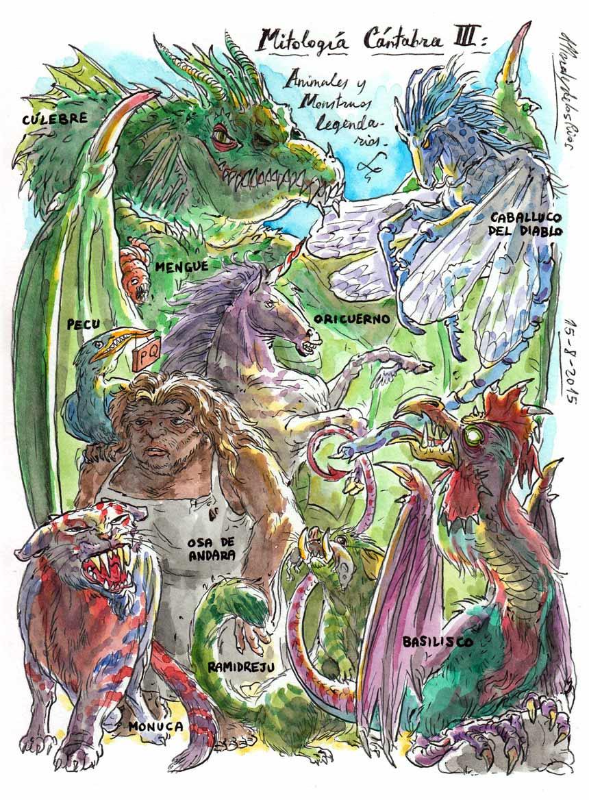 64.-MITOLOGÍA-CÁNTABRA-III.-Animales-y-Monstruos-legendarios