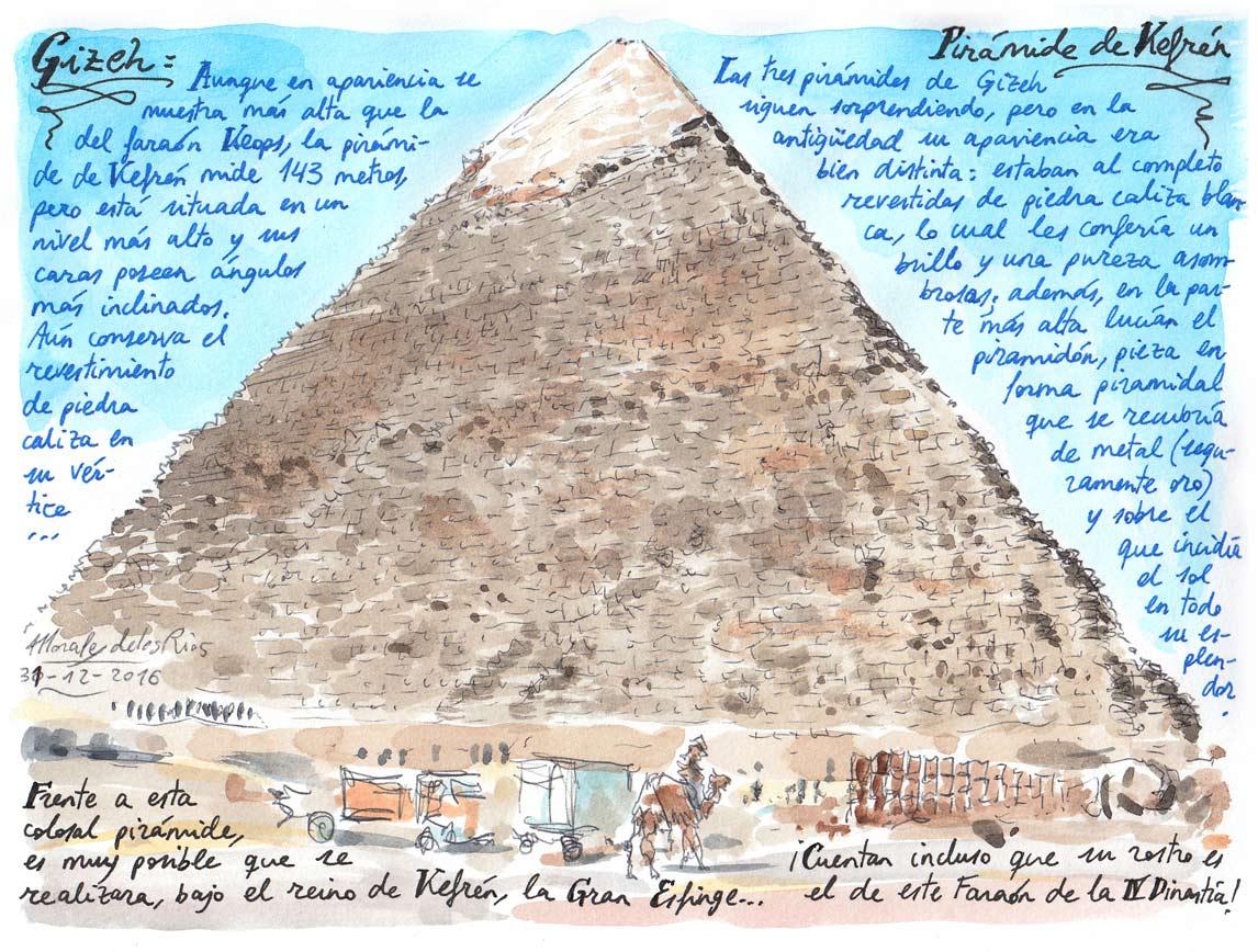 06. GIZEH. Pirámide de Kefrén