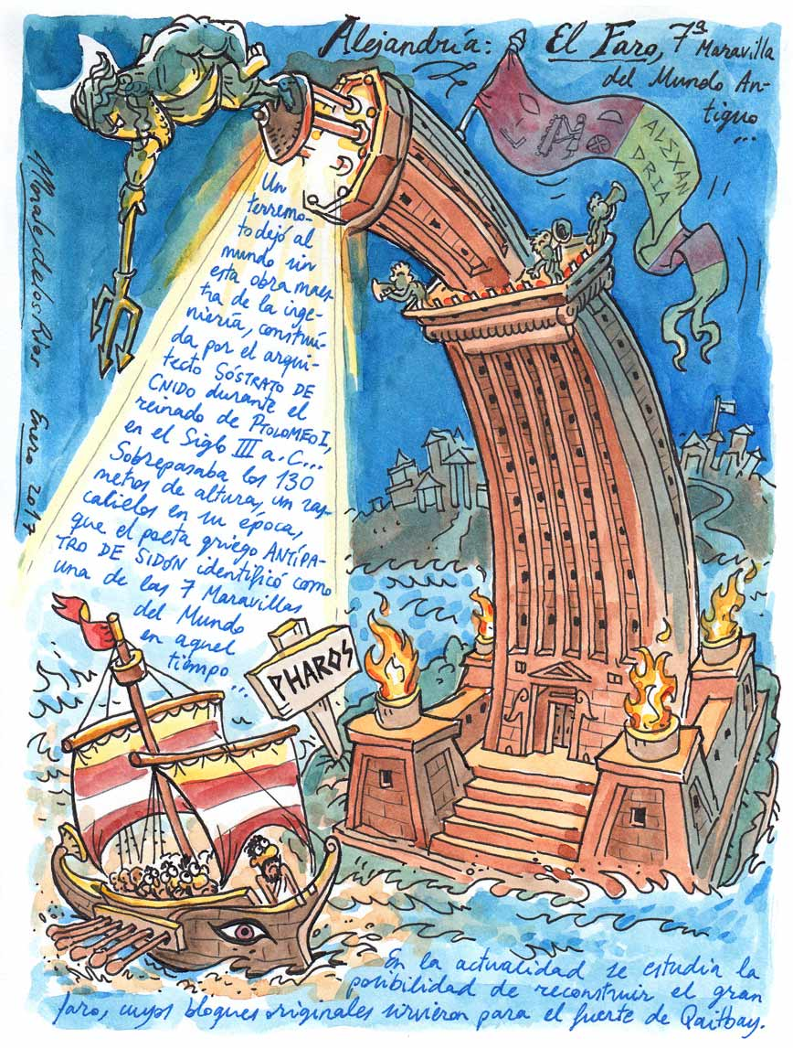 26. ALEJANDRÍA. El Faro, 7ª Maravilla del Mundo Antiguo