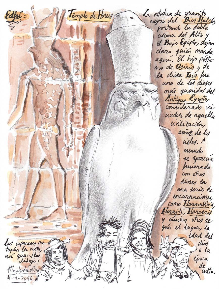 61. EDFÚ. Templo de Horus (La estatua de granito negro del Dios-Halcón)