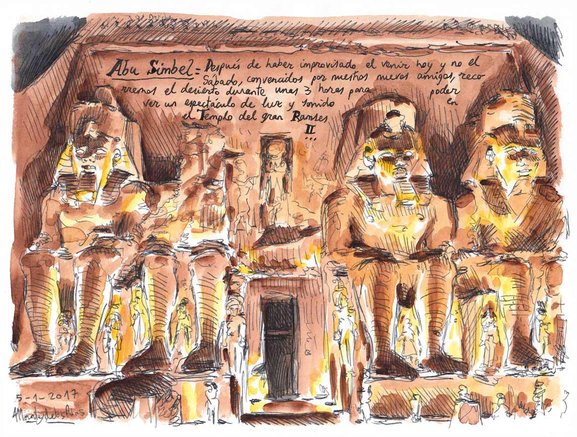 74. ABU SIMBEL. Gran Templo de Ramsés II (Espectáculo de luz y sonido)