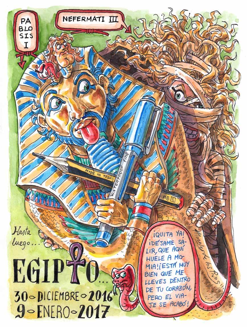 92. Hasta luego EGIPTO (Pablosis I y Nefermati III). Contraportada