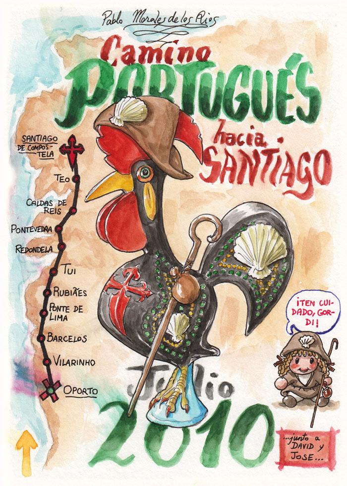 Camino PORTUGUÉS hacia SANTIAGO 2010 - Pág 01. Portada