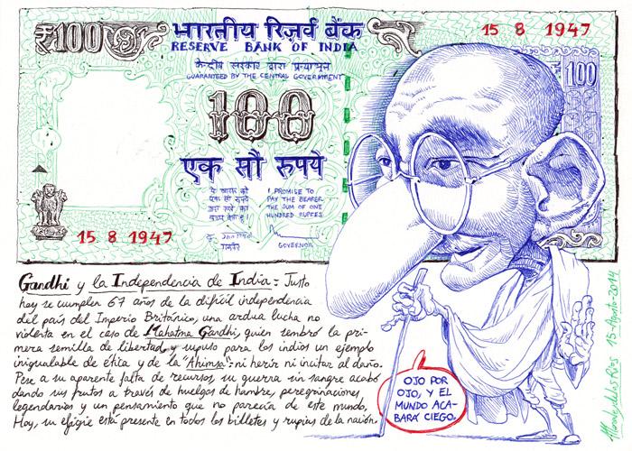 INDIA 2014 - Pág 034. JAISALMER. Gandhi y la Independencia de India