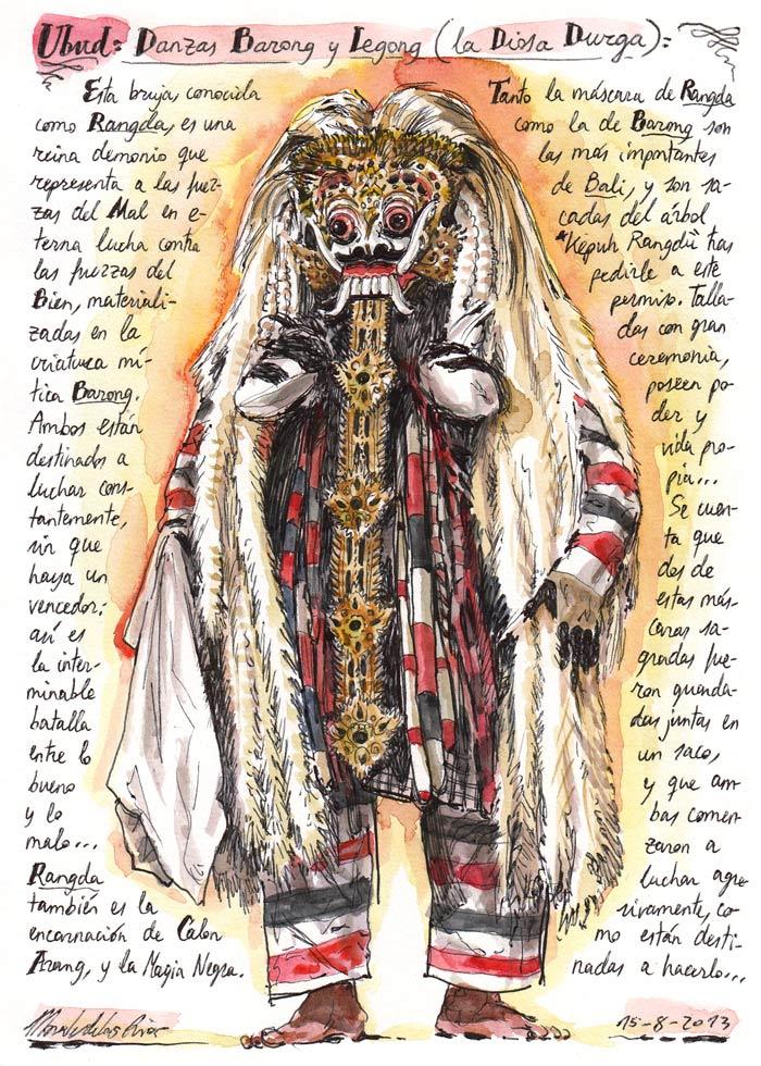 INDONESIA 2013 - Pág 062. UBUD. Danzas Barong y Legong (La Diosa Durga)
