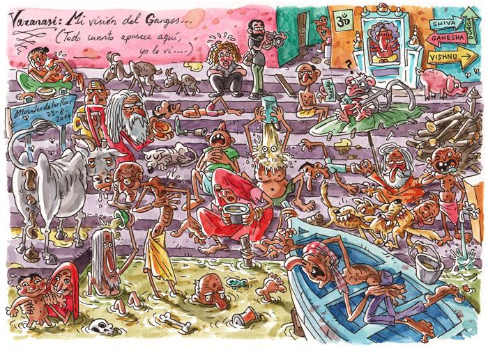 INDIA 2014 - Pág. 073. VARANASI. Mi visión del Ganges (Todo cuanto aparece aquí, yo lo vi...)