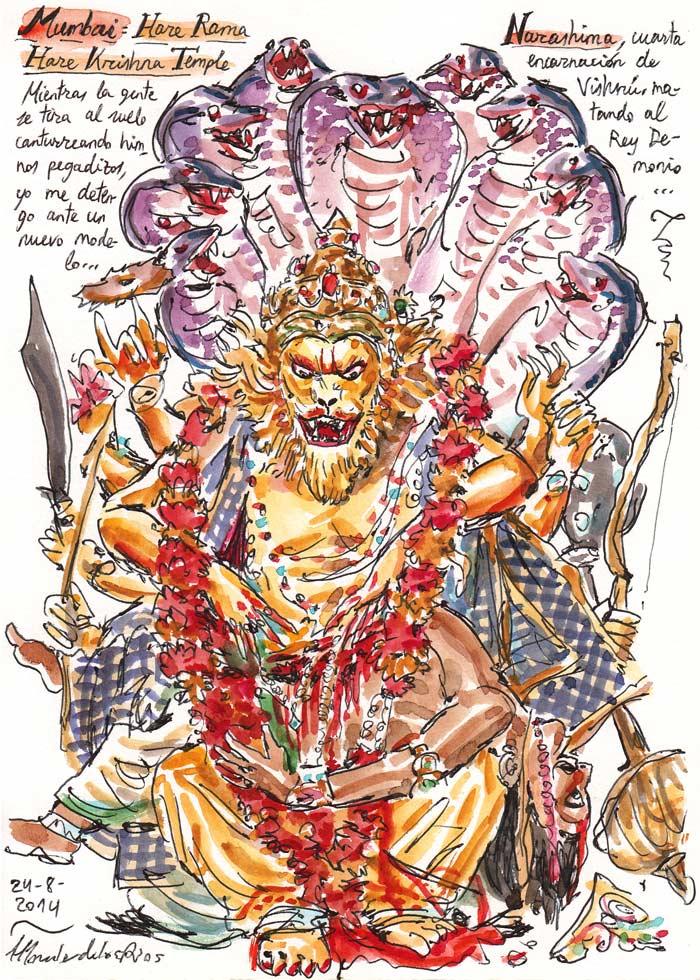 INDIA 2014 - Pág 080. MUMBAI. Hare Rama Hare Krishna Temple (Narashima)