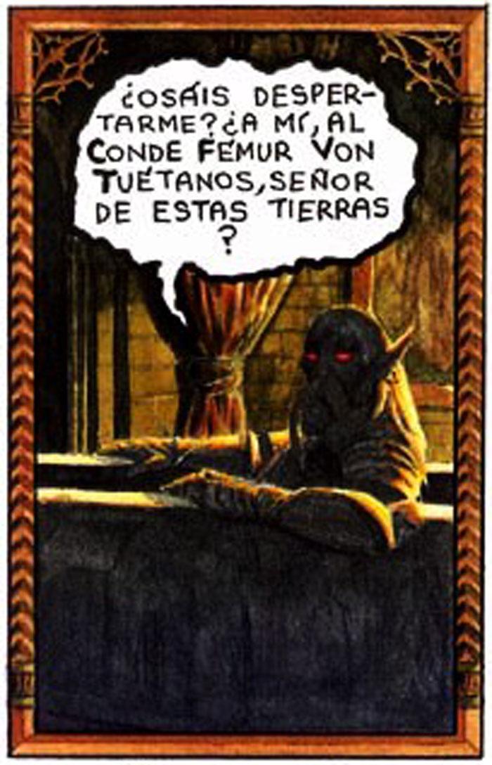 De cómo BROTAM MUSCULAMEN fue a cazar a un vampiro - Conde Fémur Von Tuétanos