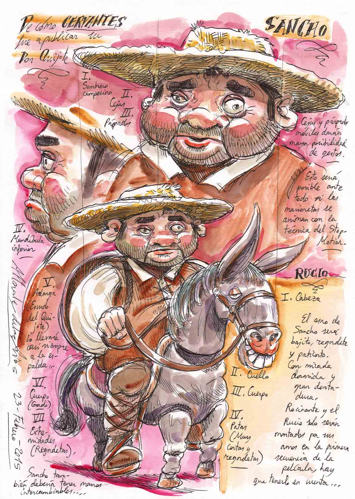 CERVANTES - Marioneta Sancho