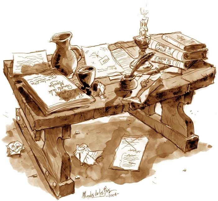 De cómo Cervantes fue a publicar su Don Quijote - Mesa de Cervantes