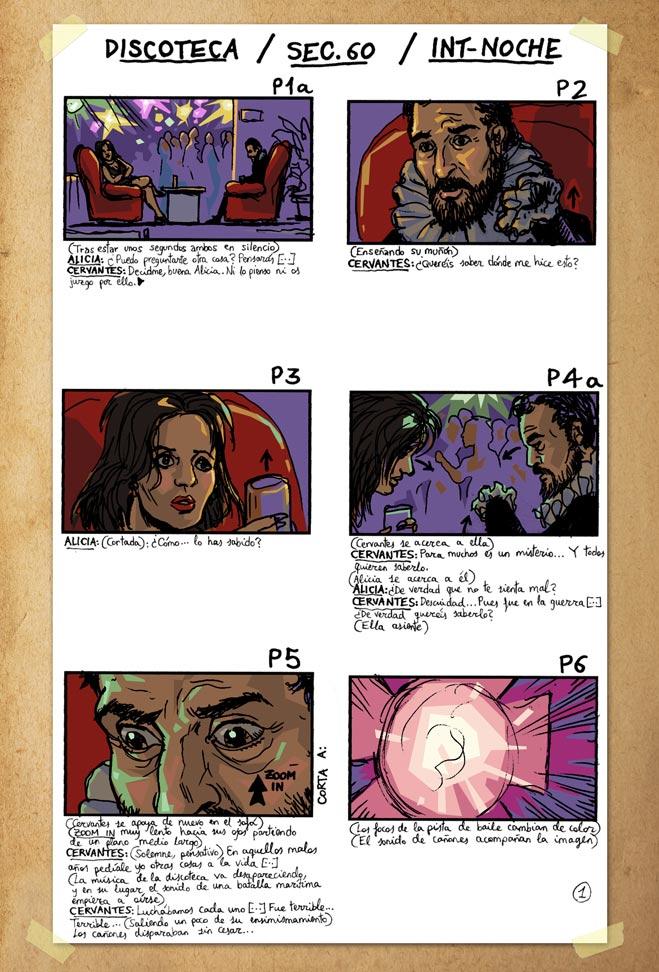 De cómo Cervantes fue a publicar su Don Quijote - Storyboard 1