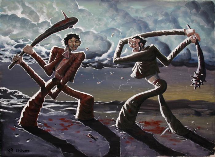Dos forasteros xenófobos dándose palos (El Ejido)