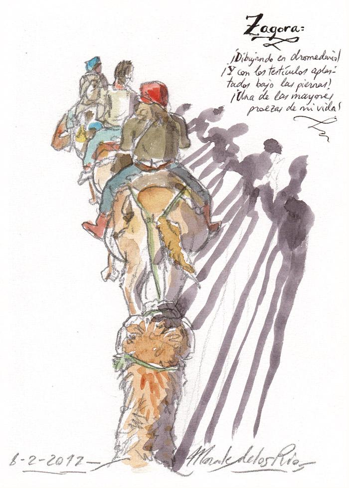 MARRUECOS 2012 - Pág 25. ZAGORA. ¡Dibujando en dromedario!