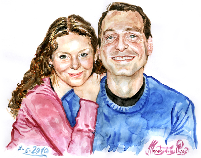 Marcos Horta y su mujer
