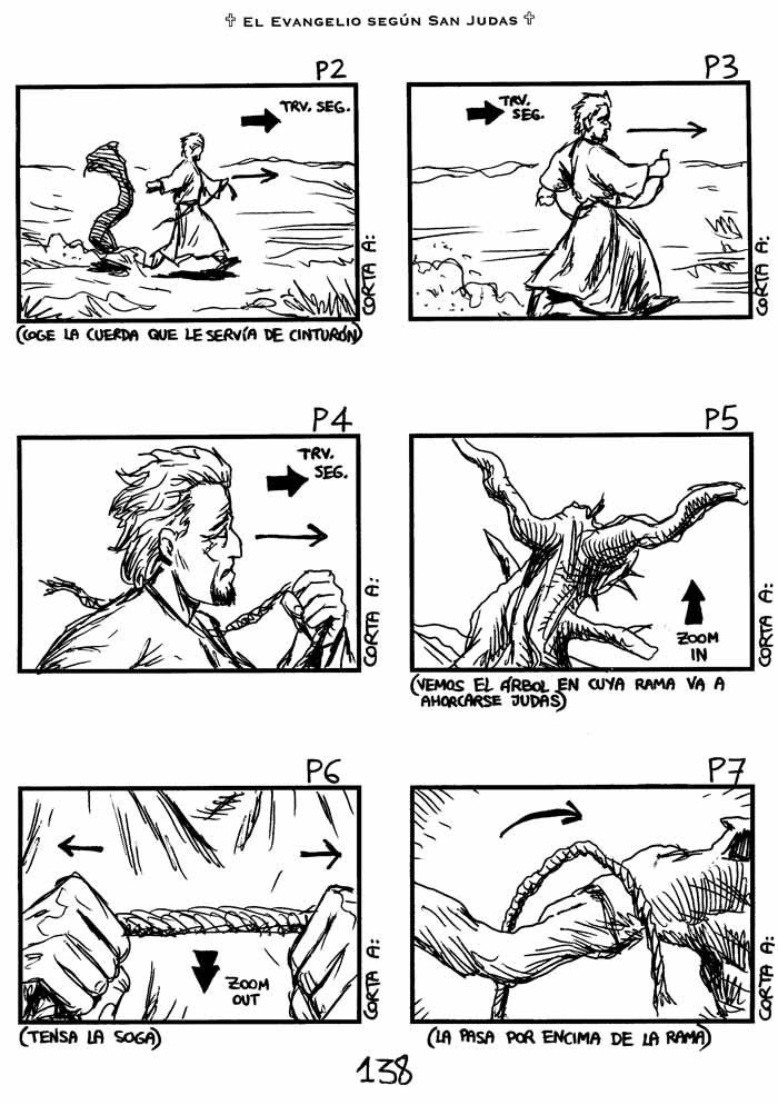 El Evangelio según San Judas - Storyboard, pag. 138