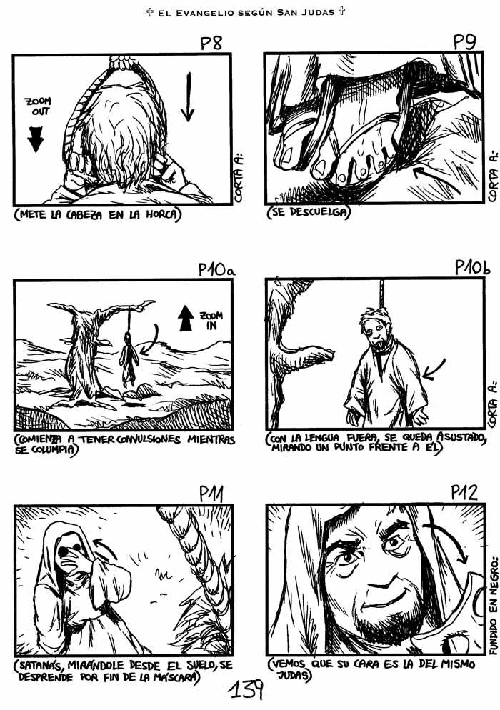 El Evangelio según San Judas - Storyboard, pag. 139