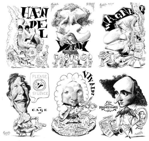 Poster CARICATURAS - Músicos Clásicos (Detalle 3)