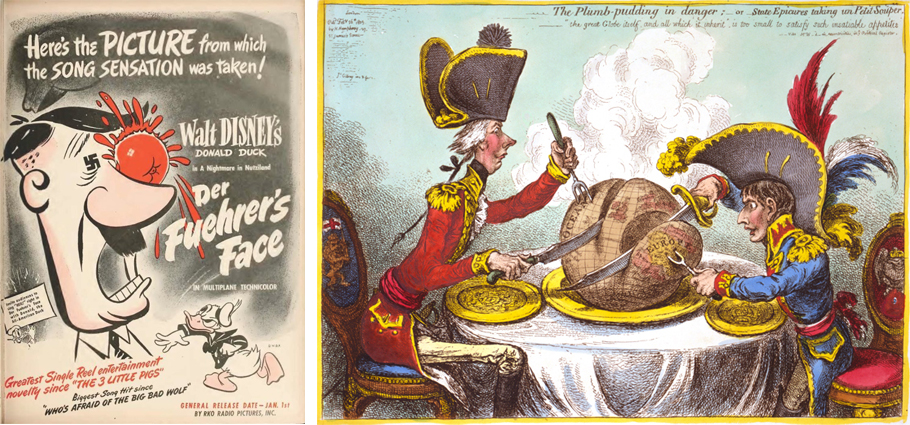Walt disney - Der Fuehrer's Face + James Gillray - Plumpudding