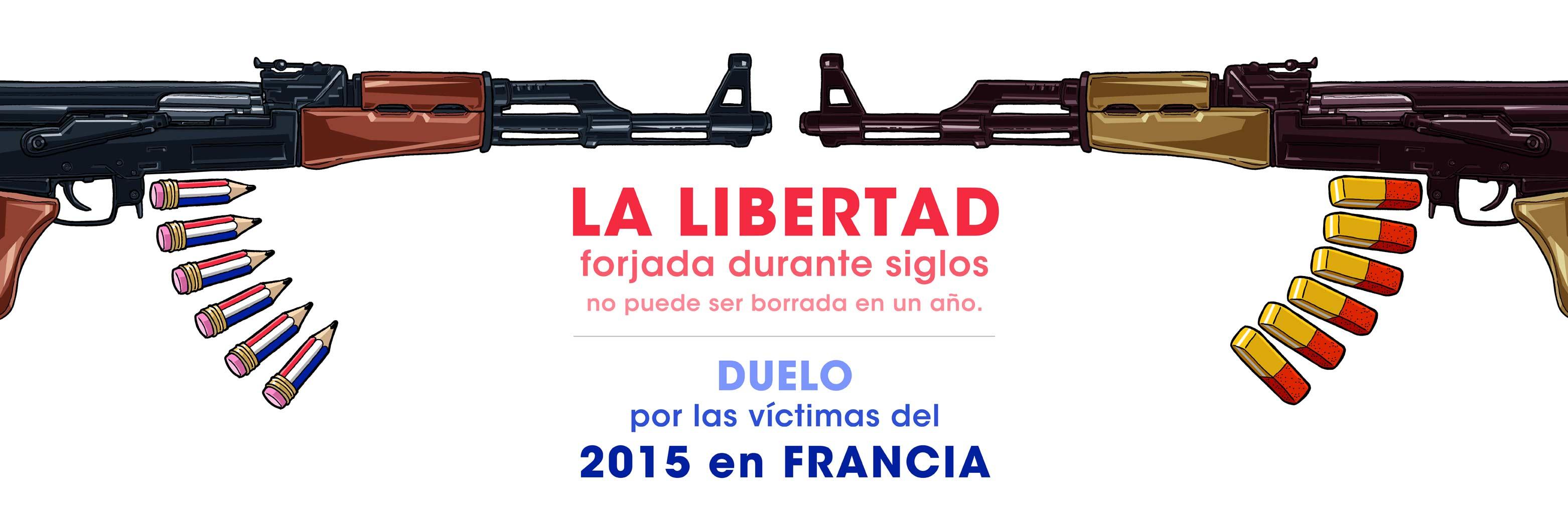 DUELO por las víctimas del 2015 en FRANCIA