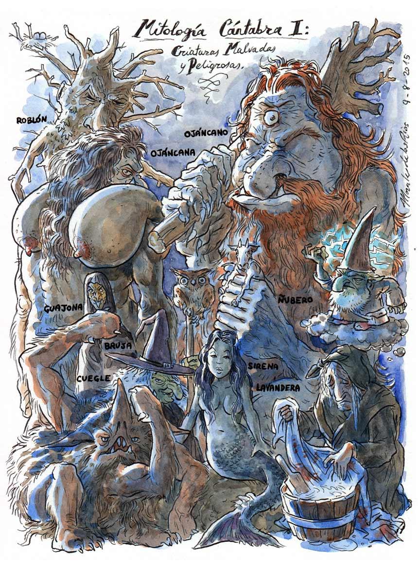 48.-MITOLOGÍA-CÁNTABRA-I.-Criaturas-Malvadas-y-Peligrosas
