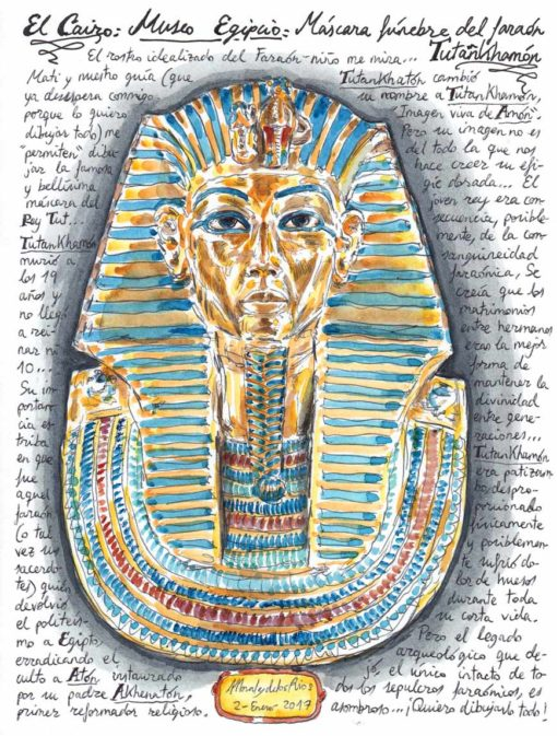 36. EL CAIRO. Museo Egipcio (Máscara fúnebre de Tutankhamón)